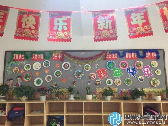 《迎新年》刮纸画,二年级同学们的泥塑作品《小动物迎新年》,三年级
