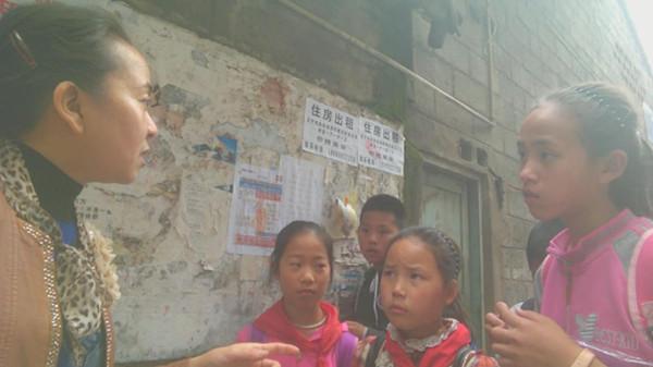 越西县教科局开展禁烟宣传活动