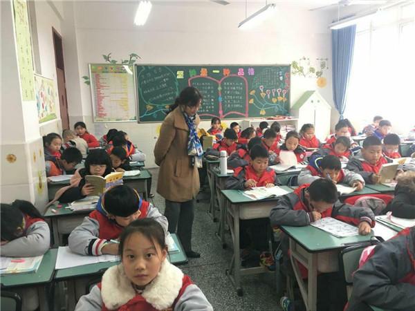 龙泉驿区责任督学唐桂芳到经开区实验小学督导工作