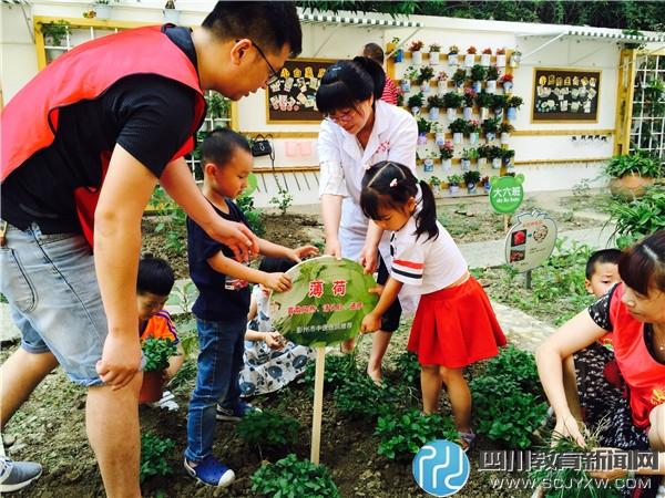 彭州机幼开展种植中医药植物活动