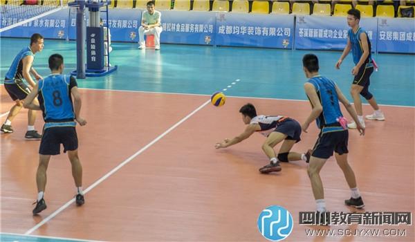 升庵中学男子排球队荣获四川省第十三届运动会亚军