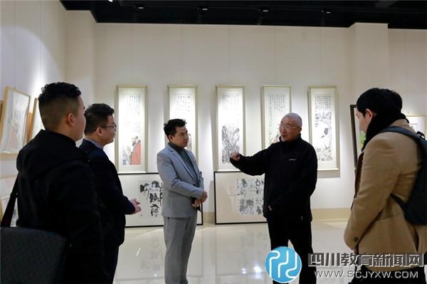 泰国兰塔纳功欣皇家理工大学一行与我校艺术学院院长胡绍中交流.JPG