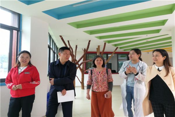 橙乡幼儿园接受县师培中心常规督查