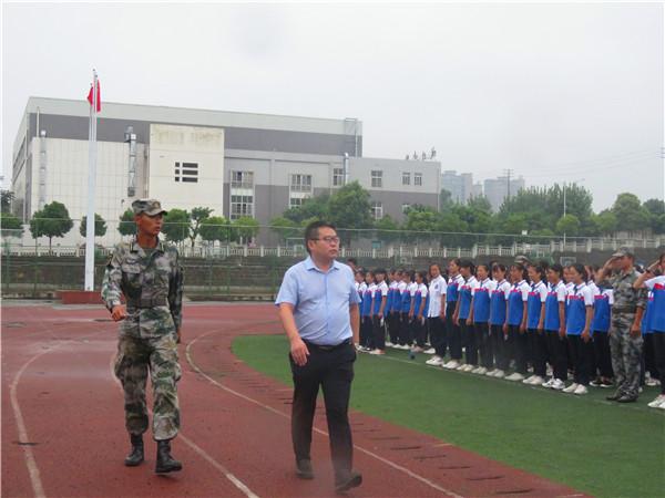 中江县城北中学举行2019年军训阅兵仪式