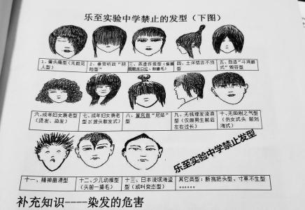 偏头痛还是垂帘?资阳市乐至实验中学发布禁止发型