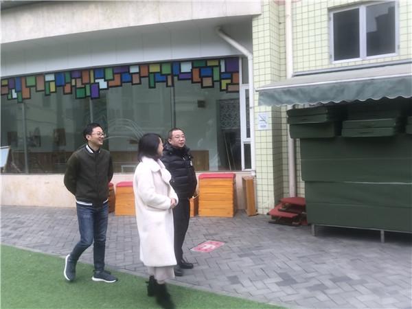 青羊区副局长徐琨同志到五幼进行检查指导工作