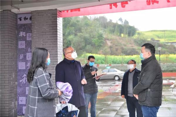 雅安市委领导赴四川省贸易学校督导检查防疫工作