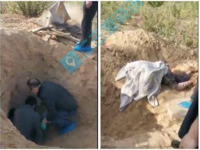 男子将瘫痪老母活埋进废弃墓坑