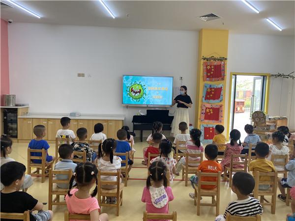 橙乡幼儿园开展安全第一课――抗击病毒小卫士