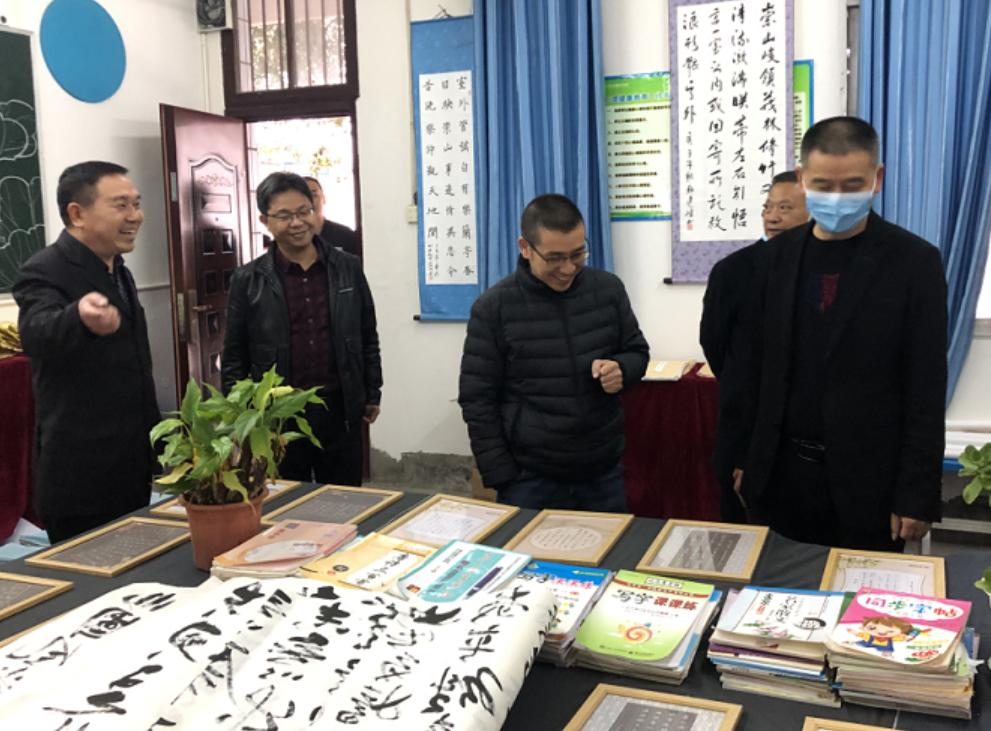 广安前锋区代市初级中学校迎接广安市书法教育示范校验收
