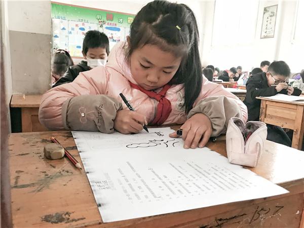 大妙中心校进行艺体学科期末检测考试