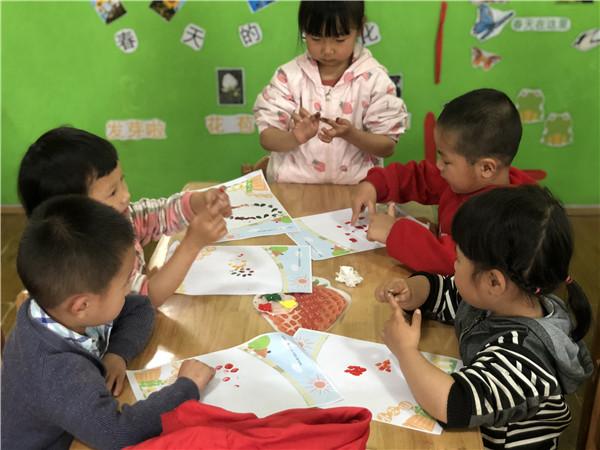 """井口幼儿园开展""""我的小花园""""手指创意画活动"""