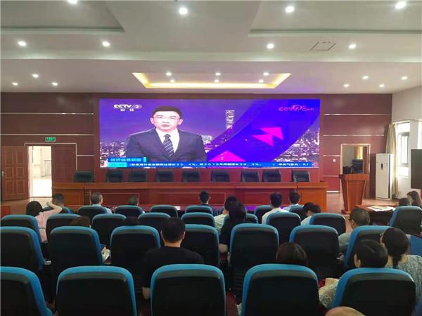 工程职校组织全体师生观看安全教育警示片